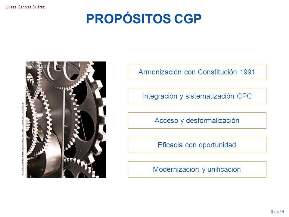 Ulises Canosa Suárez PROPÓSITOS CGP http://www.letraherido.com/images/imagenes%20tecnologia/engranaje%20(5).jpg. Armonización con Constitución 1991 In