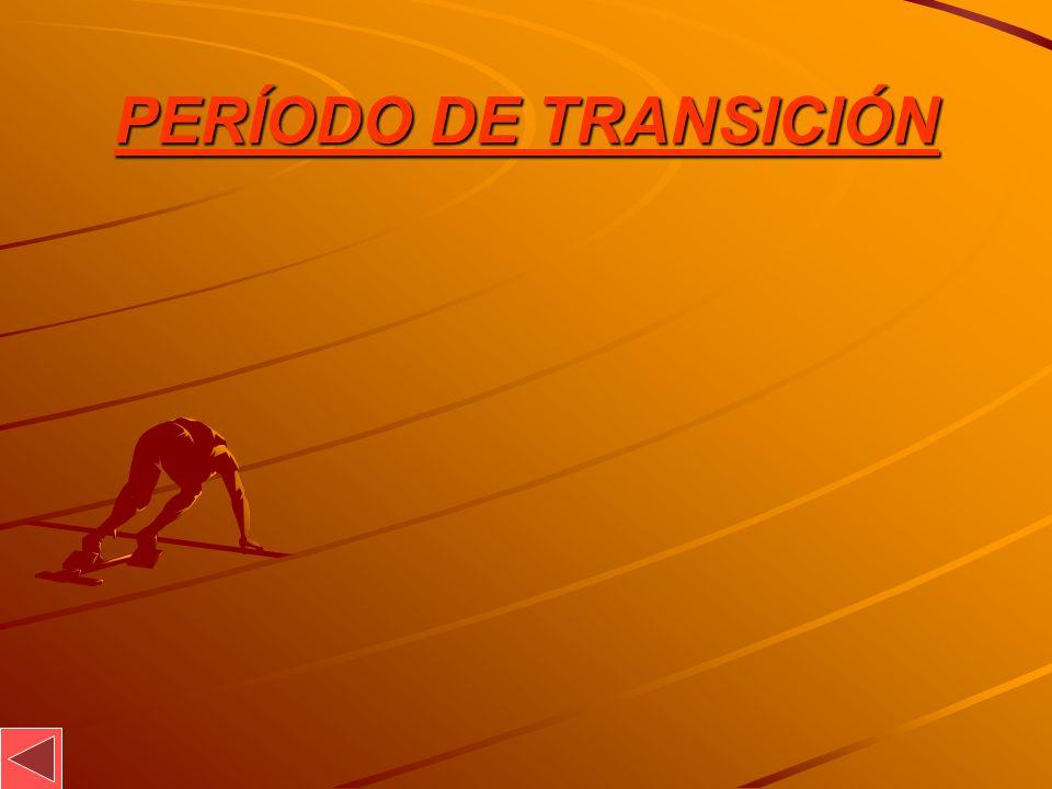 PERÍODO DE TRANSICIÓN
