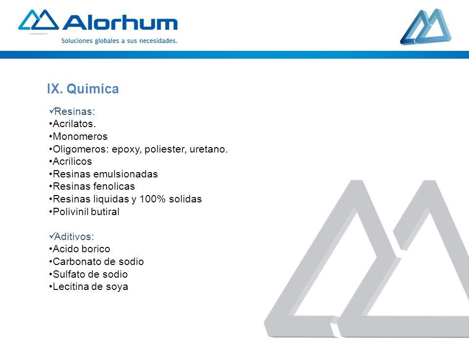 Resinas: Acrilatos. Monomeros Oligomeros: epoxy, poliester, uretano. Acrilicos Resinas emulsionadas Resinas fenolicas Resinas liquidas y 100% solidas