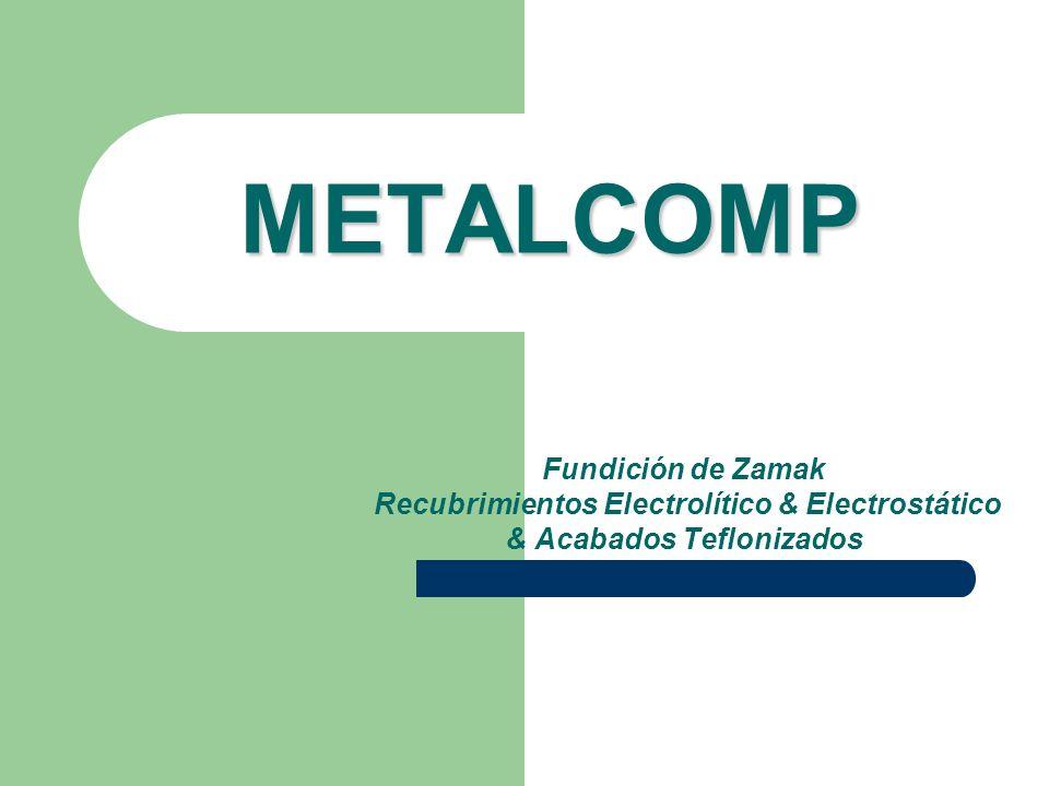METALCOMP Fundición de Zamak Recubrimientos Electrolítico & Electrostático & Acabados Teflonizados