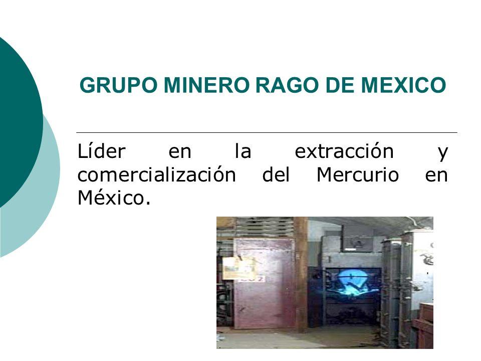 GRUPO MINERO RAGO DE MEXICO Líder en la extracción y comercialización del Mercurio en México.