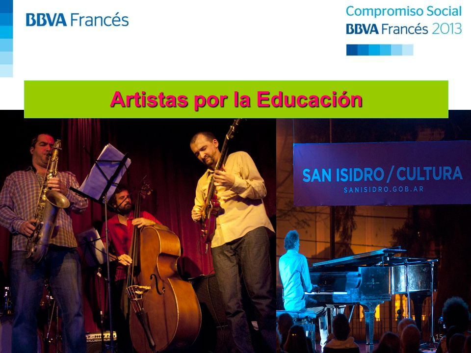 15 Artistas por la Educación
