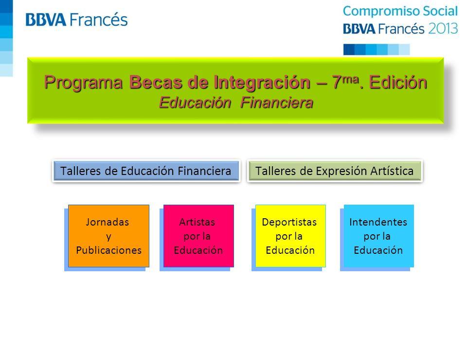 Talleres de Expresión Artística Talleres de Educación Financiera Programa Becas de Integración – 7 ma.