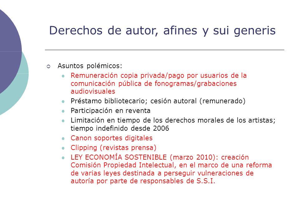 Derechos de autor, afines y sui generis Asuntos polémicos: Remuneración copia privada/pago por usuarios de la comunicación pública de fonogramas/graba