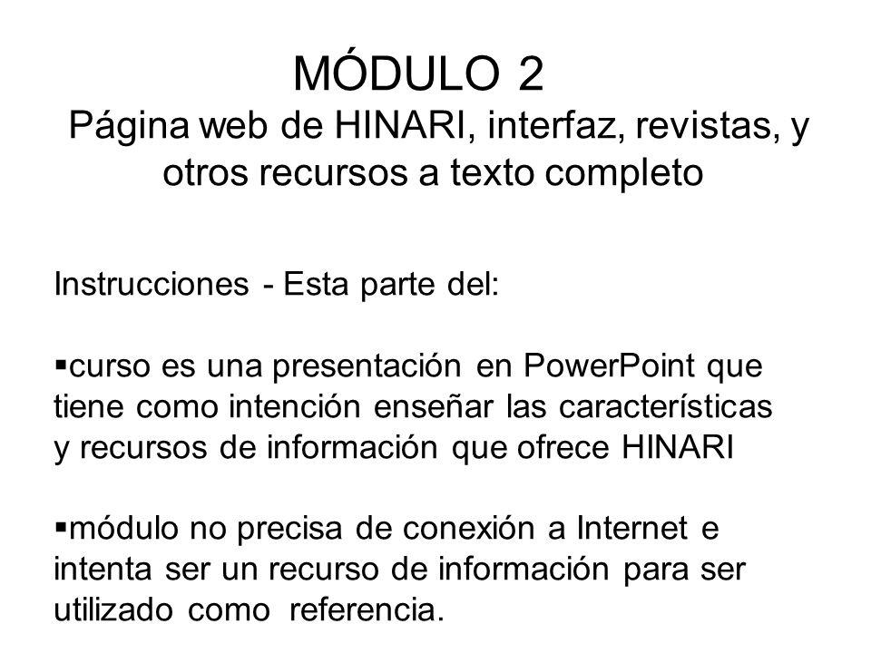 Instrucciones - Esta parte del: curso es una presentación en PowerPoint que tiene como intención enseñar las características y recursos de información