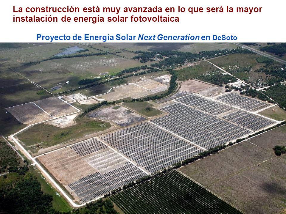 La construcción está muy avanzada en lo que será la mayor instalación de energía solar fotovoltaica Proyecto de Energía Solar Next Generation en DeSoto