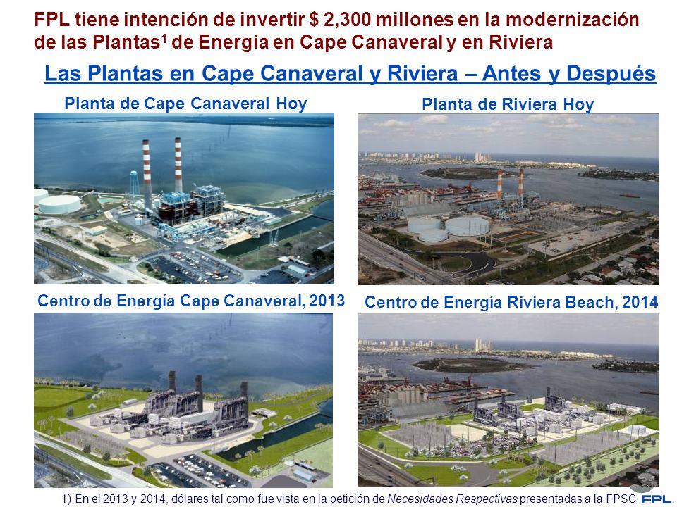 FPL tiene intención de invertir $ 2,300 millones en la modernización de las Plantas 1 de Energía en Cape Canaveral y en Riviera Las Plantas en Cape Ca