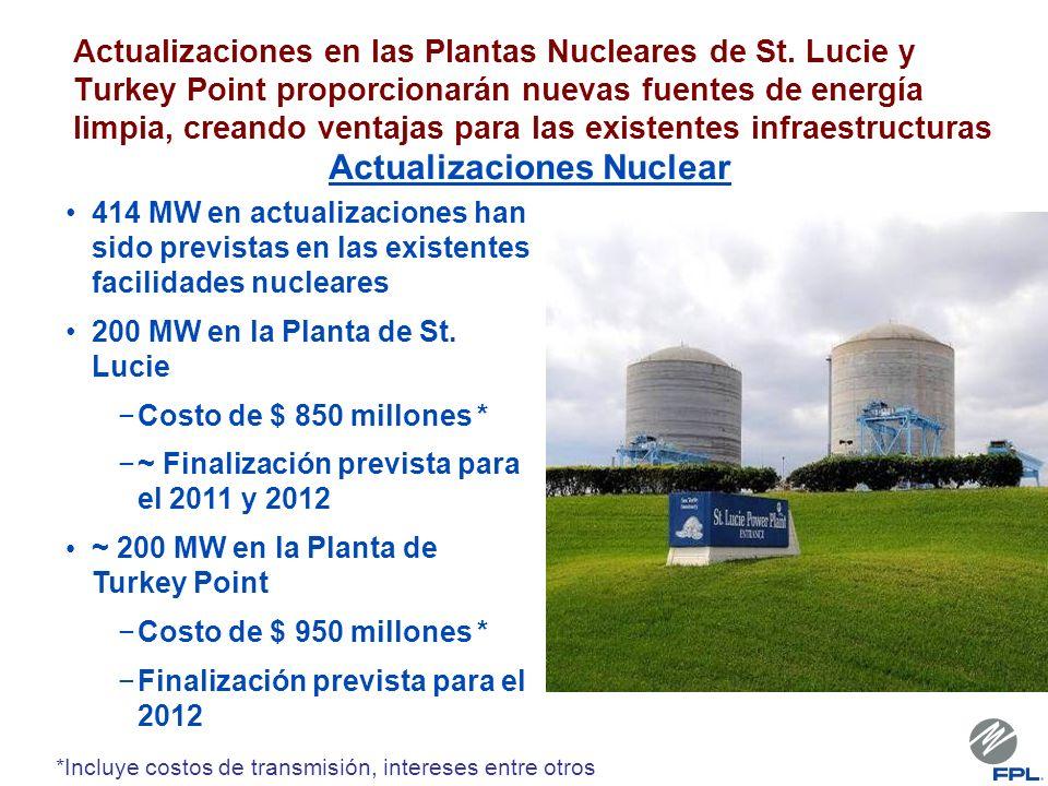Actualizaciones en las Plantas Nucleares de St. Lucie y Turkey Point proporcionarán nuevas fuentes de energía limpia, creando ventajas para las existe