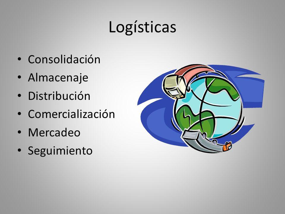 Logísticas Consolidación Almacenaje Distribución Comercialización Mercadeo Seguimiento