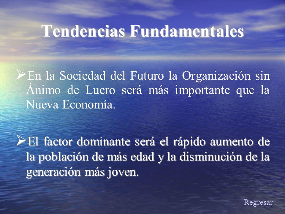 Tendencias Fundamentales En la Sociedad del Futuro la Organización sin Ánimo de Lucro será más importante que la Nueva Economía. El factor dominante s
