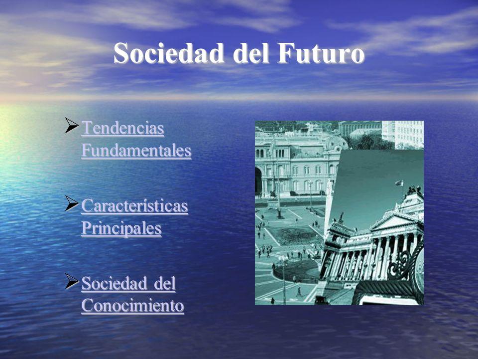 Sociedad del Futuro Tendencias Fundamentales Tendencias Fundamentales Tendencias Fundamentales Tendencias Fundamentales Características Principales Ca