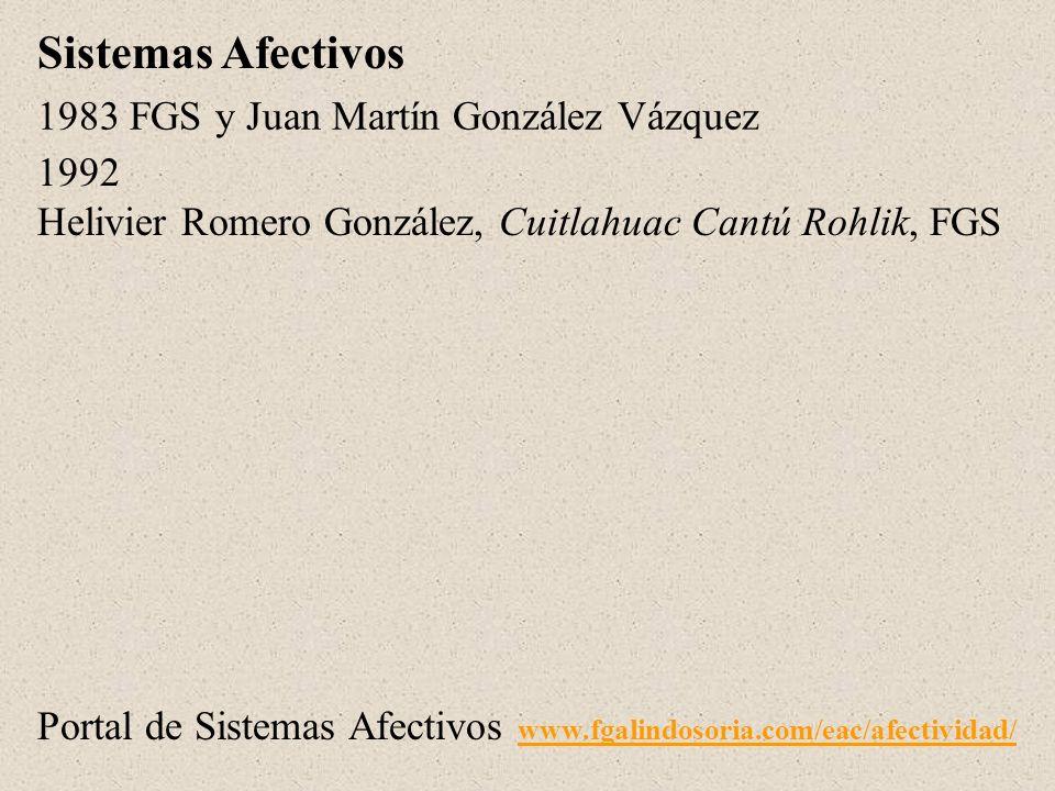 1983 FGS y Juan Martín González Vázquez 1992 Helivier Romero González, Cuitlahuac Cantú Rohlik, FGS Sistemas Afectivos Portal de Sistemas Afectivos ww