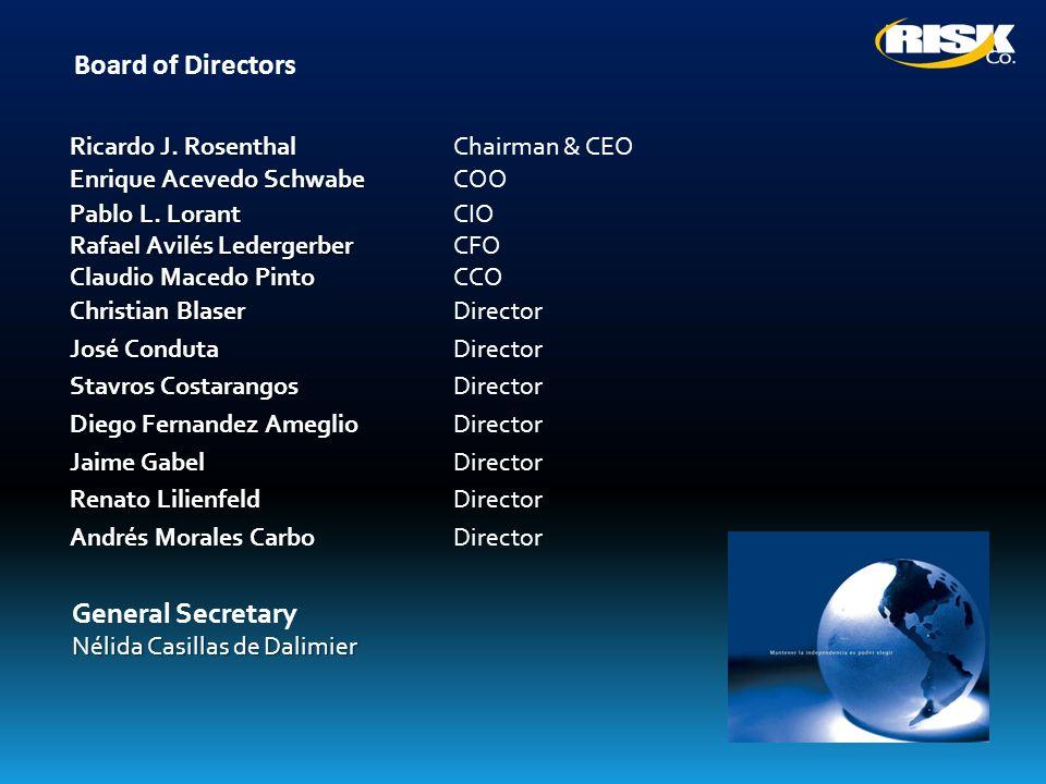 Board of Directors Ricardo J. Rosenthal Chairman & CEO Enrique Acevedo Schwabe COO Pablo L. Lorant CIO Rafael Avilés Ledergerber CFO Claudio Macedo Pi