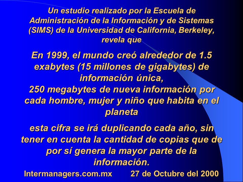 Informe Global de Tecnologias de la Información del World Economic Forun (Que tan preparados estamos para la Economia de la Información) Posición de México Año Lugar 2000 34 2001 44 2002 47