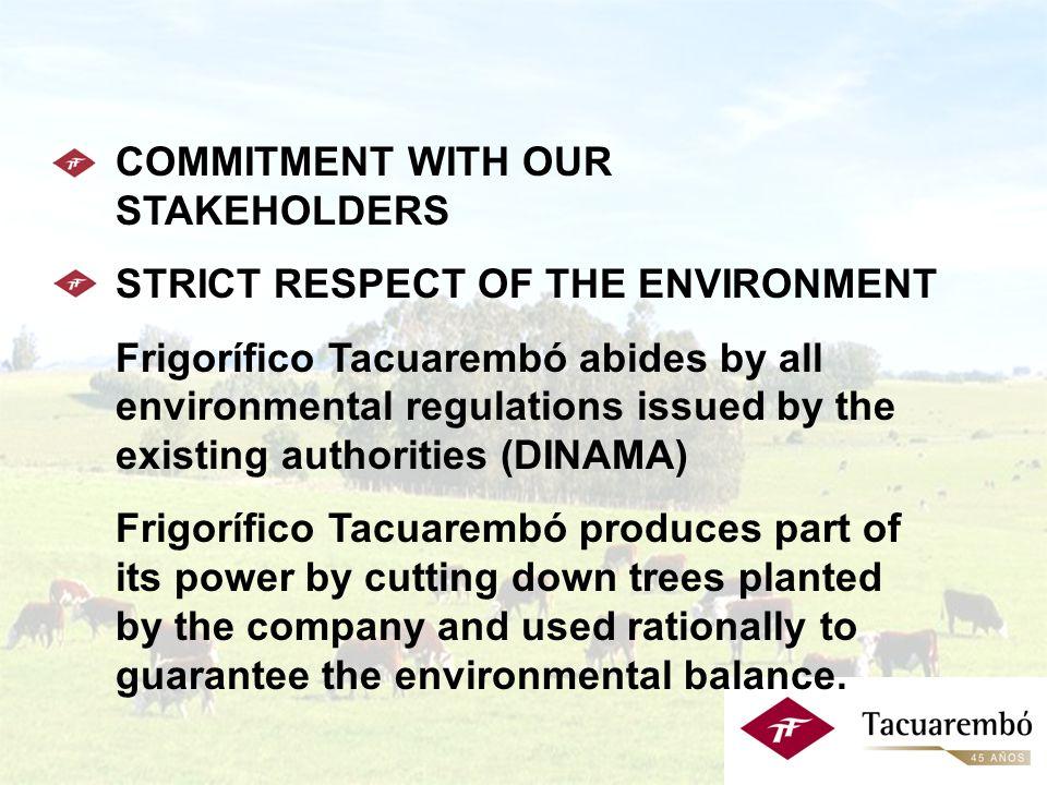 Estrategia Comercial: - Objetivos Objetivo 4: Desarrollo de Productos Orgánicos y Naturales Certificados Nuclea al Frigorífico Tacuarembó y a un grupo de 136 empresas agropecuarias (390.468 hectáreas), con el objetivo de atender en el comienzo, el segmento de consumidores europeos y próximamente el mercado de U.S.A.