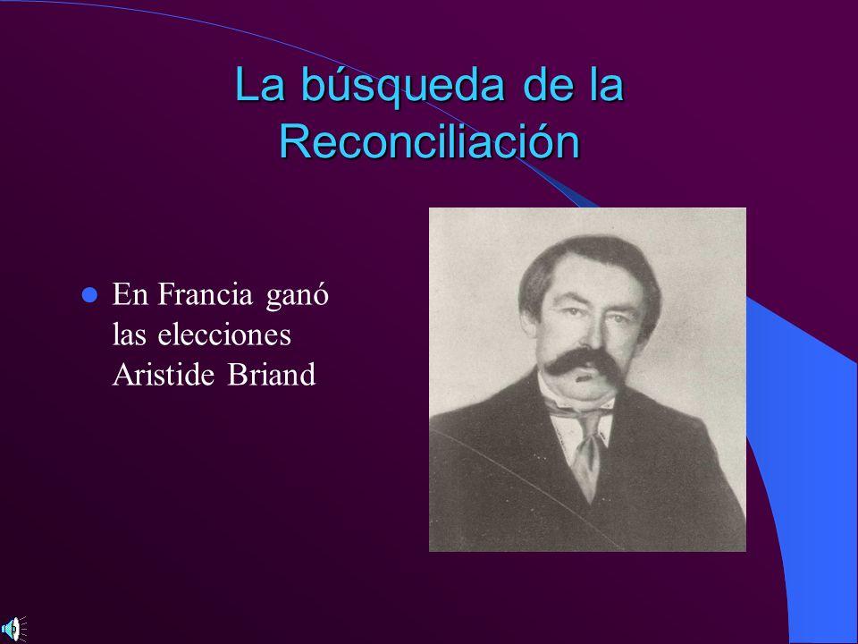 La búsqueda de la Reconciliación En Francia ganó las elecciones Aristide Briand