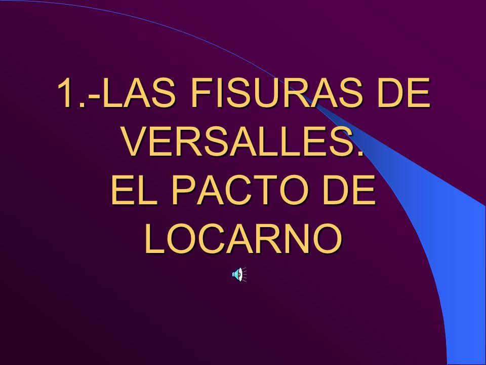 1.-LAS FISURAS DE VERSALLES. EL PACTO DE LOCARNO