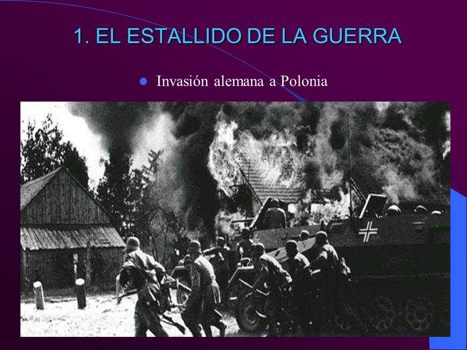 1. EL ESTALLIDO DE LA GUERRA Invasión alemana a Polonia