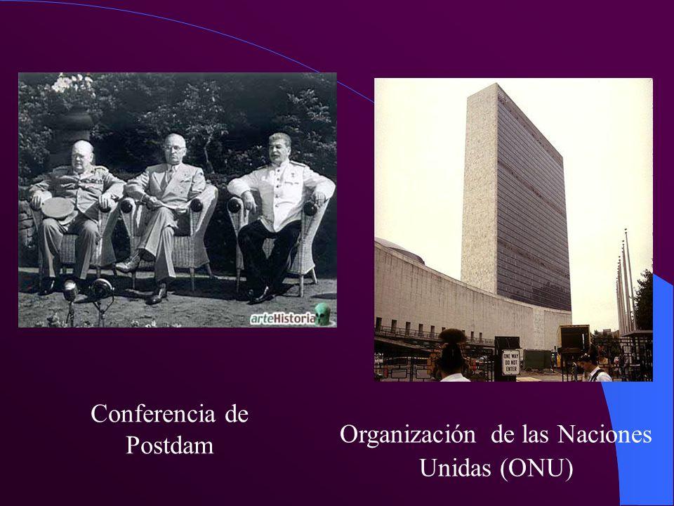 Conferencia de Postdam Organización de las Naciones Unidas (ONU)