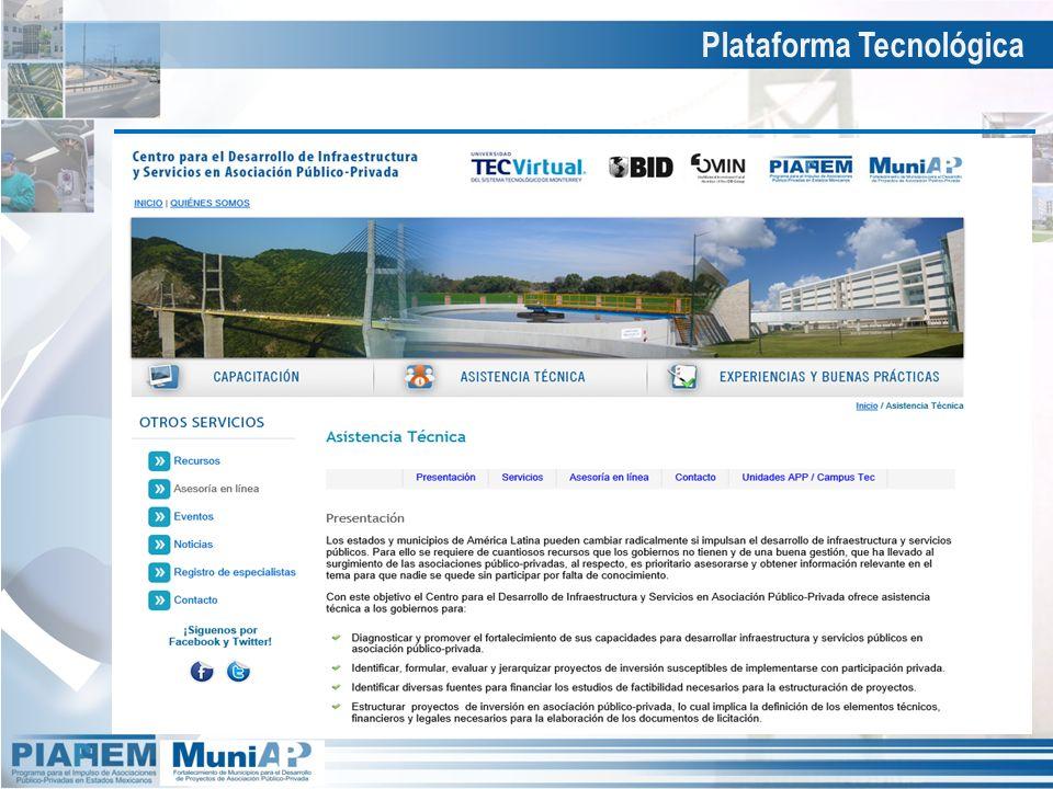 Plataforma Tecnológica Asistencia Técnica – Servicios