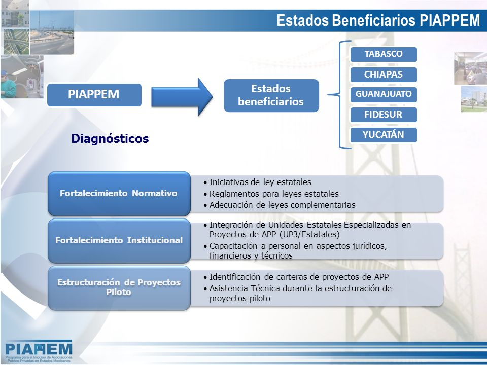 Diagnósticos Estados Beneficiarios PIAPPEM