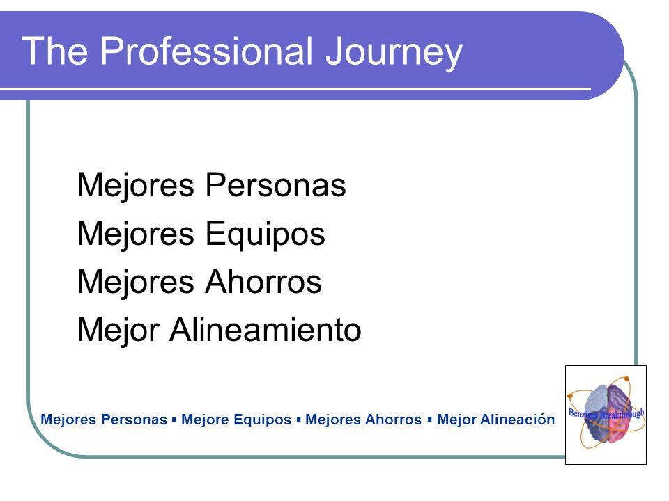 The Professional Journey Mejores Personas Mejores Equipos Mejores Ahorros Mejor Alineamiento Mejores Personas Mejore Equipos Mejores Ahorros Mejor Ali