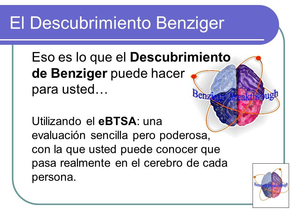 El Descubrimiento Benziger Eso es lo que el Descubrimiento de Benziger puede hacer para usted… Utilizando el eBTSA: una evaluación sencilla pero poder