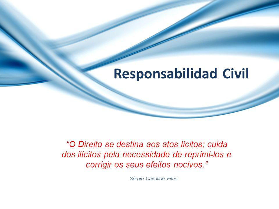 Responsabilidad Civil O Direito se destina aos atos lícitos; cuida dos ilícitos pela necessidade de reprimi-los e corrigir os seus efeitos nocivos. Sé