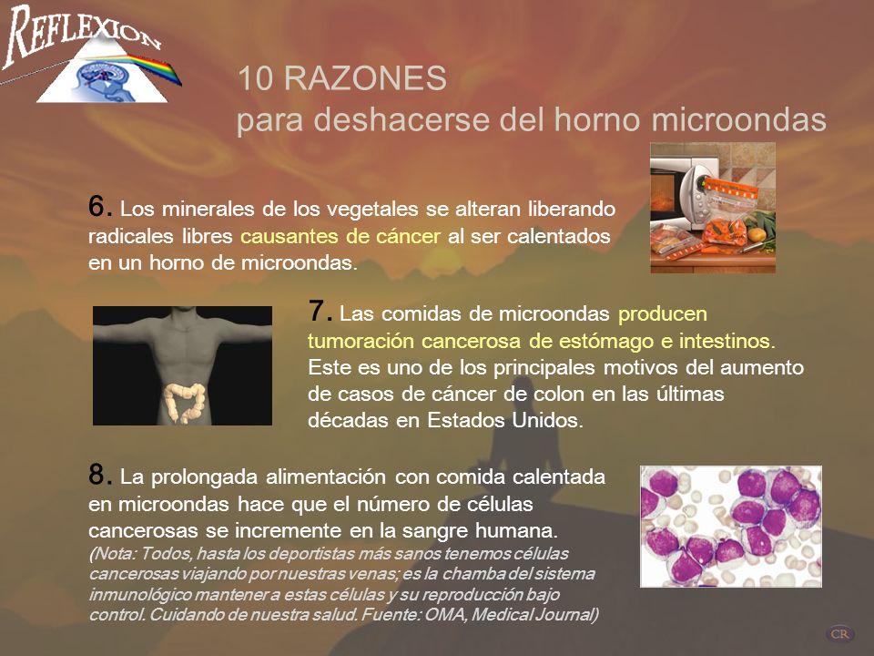 3. La producción de hormonas masculinas y femeninas se apaga o se altera al consumir continuamente alimentos de microondas. 10 RAZONES para deshacerse