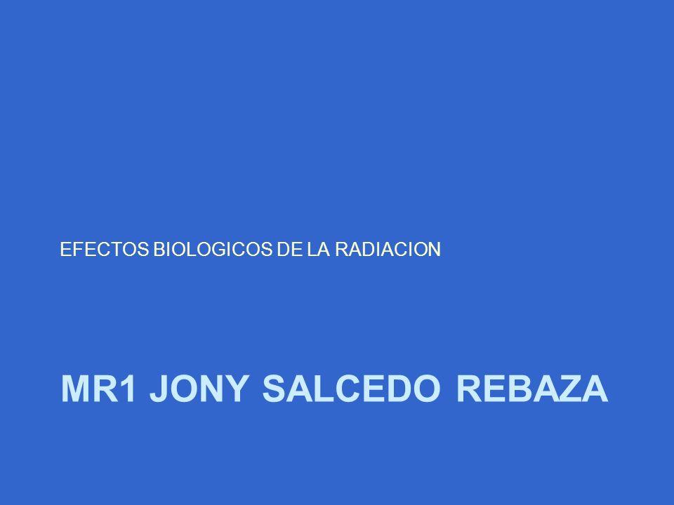 MR1 JONY SALCEDO REBAZA EFECTOS BIOLOGICOS DE LA RADIACION