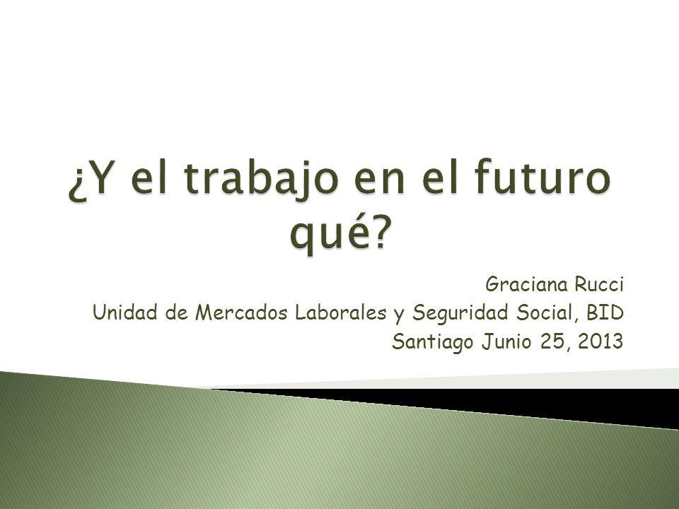 Graciana Rucci Unidad de Mercados Laborales y Seguridad Social, BID Santiago Junio 25, 2013