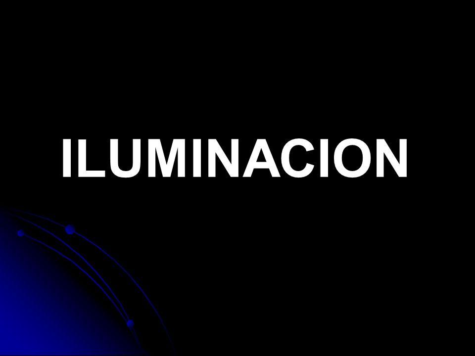 ILUMINACION Consideraciones Iluminar no es sólo conseguir que los objetos se vean, lo importante será lograr enfatizar los detalles importantes o eliminarlos por completo.