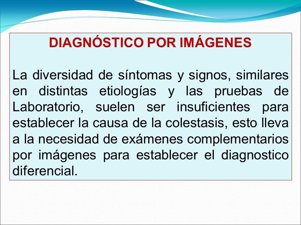 DIAGNÓSTICO POR IMÁGENES La diversidad de síntomas y signos, similares en distintas etiologías y las pruebas de Laboratorio, suelen ser insuficientes