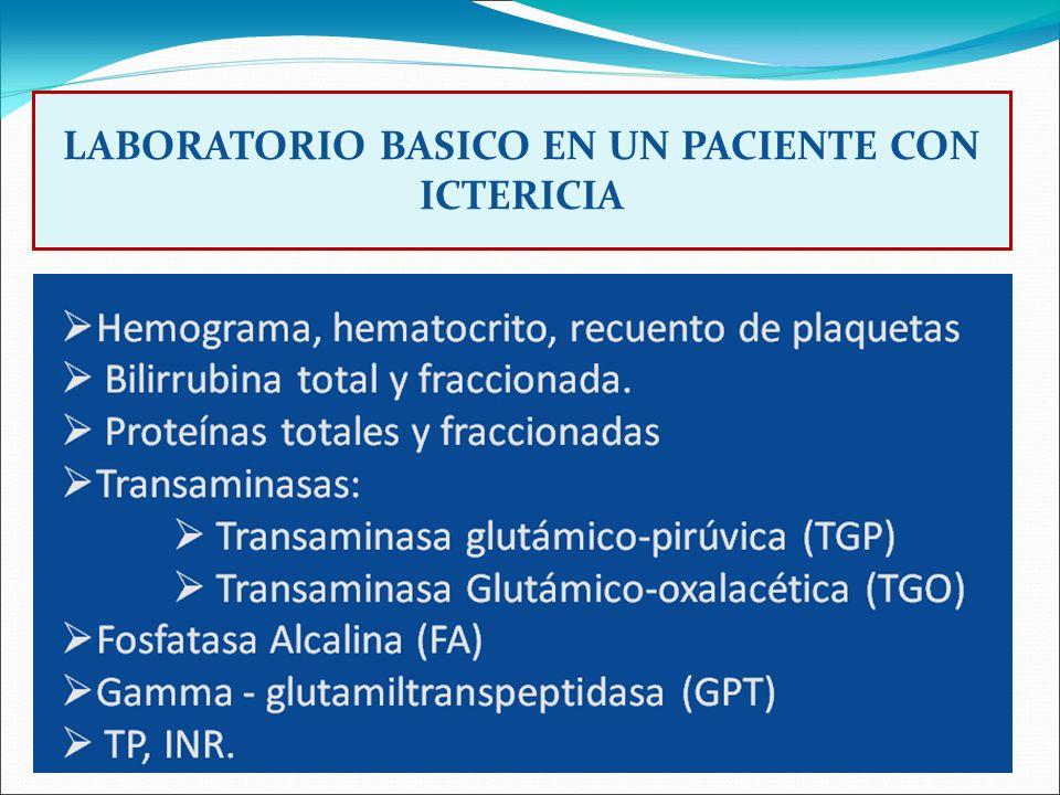 DIFERENCIACION DE ICTERICIA HEPATOCELULAR Y COLESTASICA