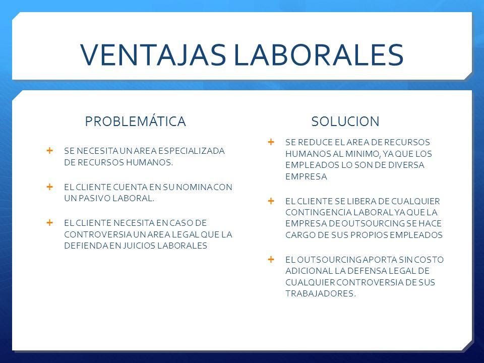 COSTOS ESQUEMA OUTSOURCING El costo del manejo de la plantilla laboral mediante Outsourcing, se integra de dos cuotas : Cuota fija por trabajador de $850.00 pesos mensuales.