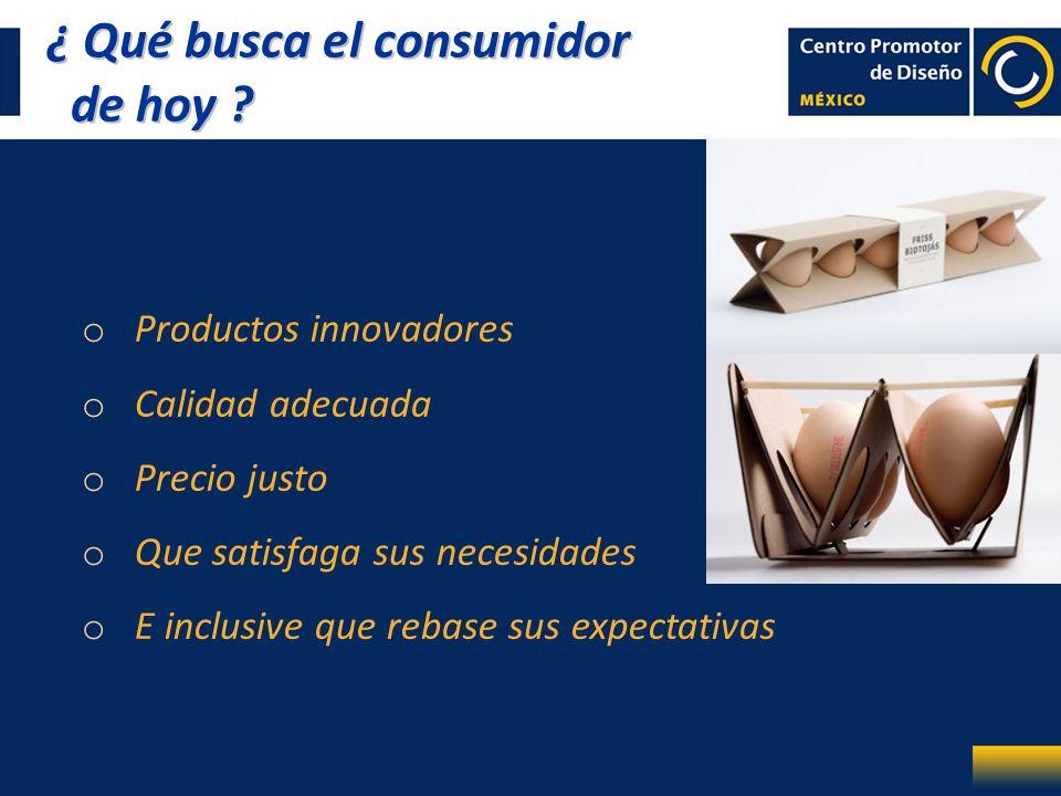 ¿ Qué busca el consumidor de hoy ? ¿ Qué busca el consumidor de hoy ? o Productos innovadores o Calidad adecuada o Precio justo o Que satisfaga sus ne