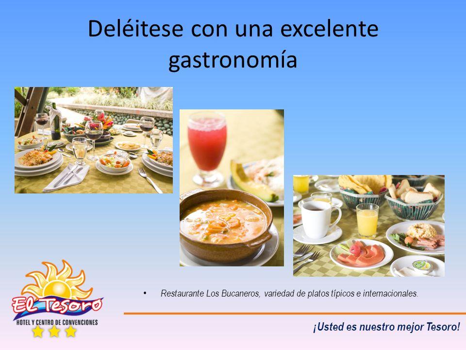 ¡Usted es nuestro mejor Tesoro! Deléitese con una excelente gastronomía Restaurante Los Bucaneros, variedad de platos típicos e internacionales.