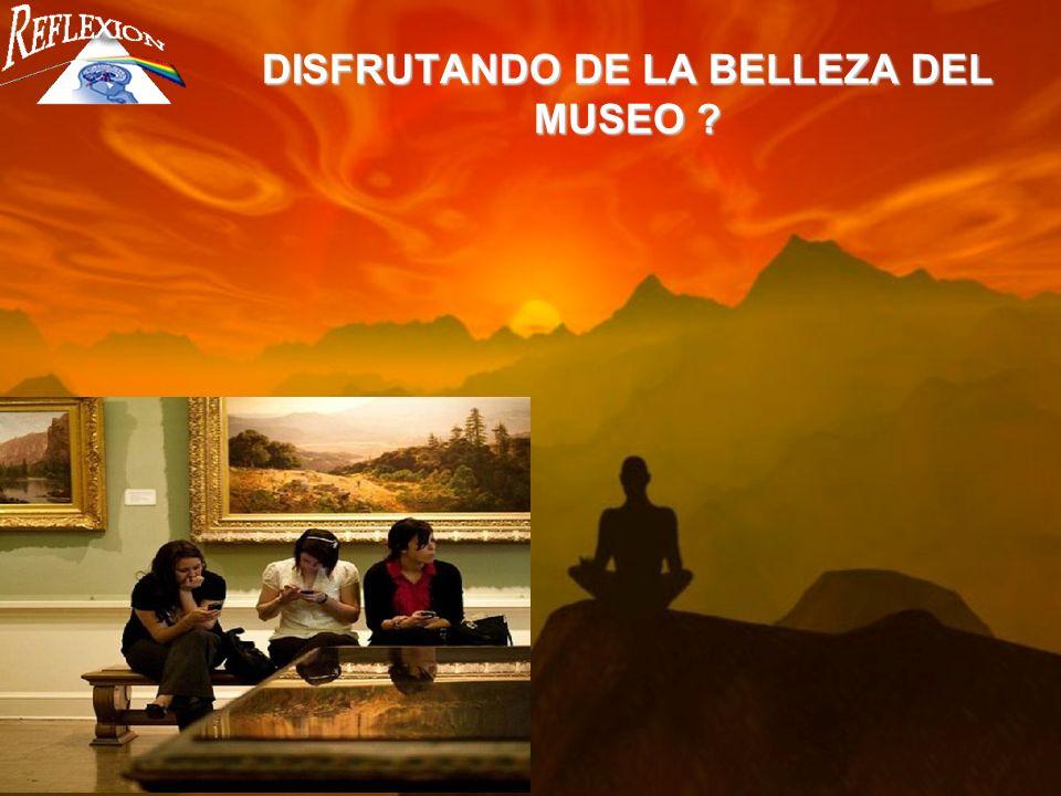 DISFRUTANDO DE LA BELLEZA DEL MUSEO ?