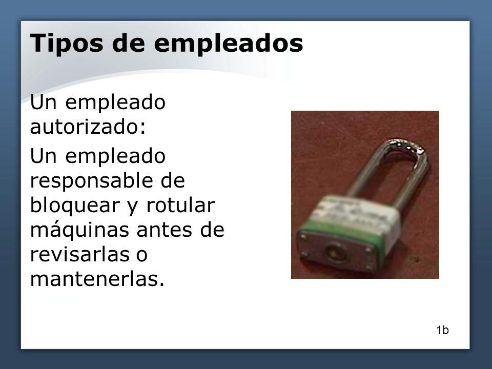Aparatos o dispositivos para bloquear El empleado autorizado debe tener dispositivo propio El dispositivo o aparato debe usarse para controlar sólo la energía 12a