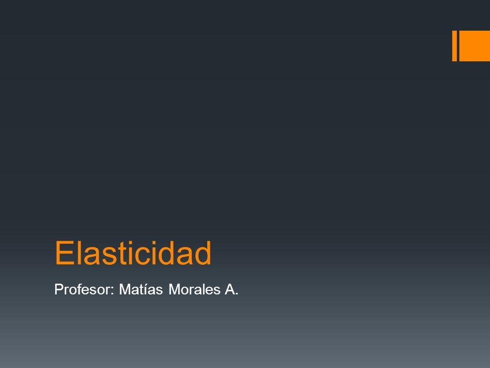 Elasticidad Profesor: Matías Morales A.