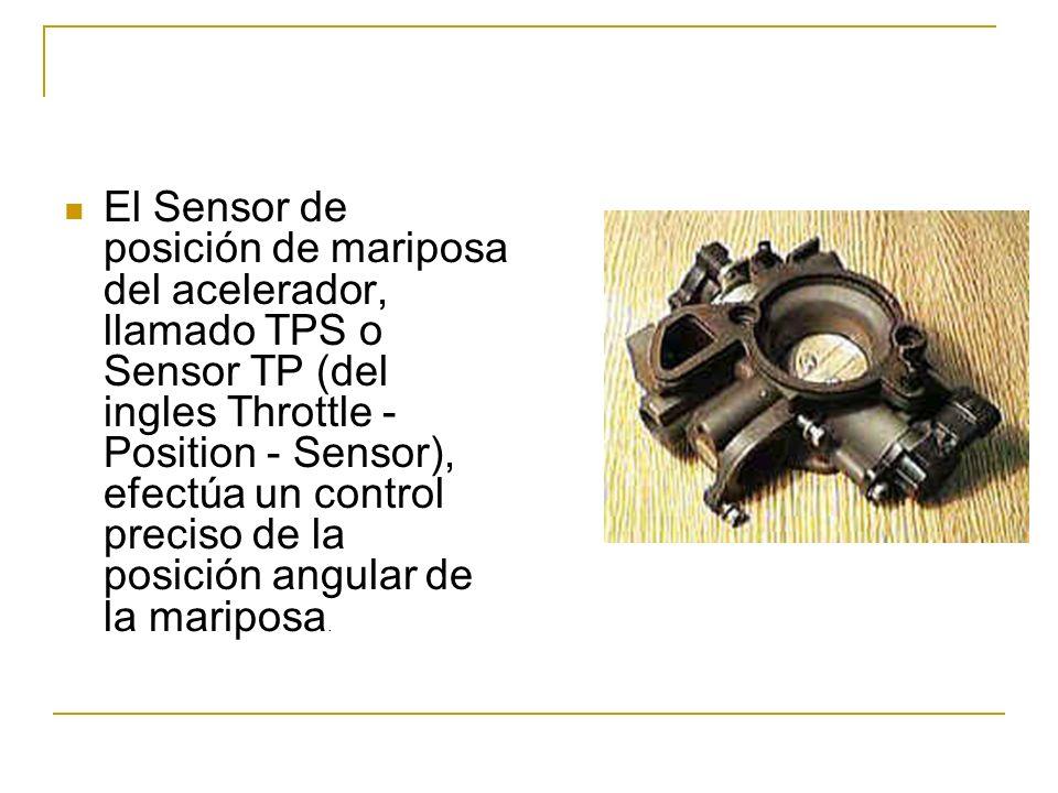 El Sensor de posición de mariposa del acelerador, llamado TPS o Sensor TP (del ingles Throttle - Position - Sensor), efectúa un control preciso de la