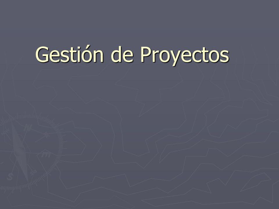 Gestión La Gestión de Proyectos implica la planificación, supervisión, y control del personal, del proceso y de los eventos que ocurren mientras evoluciona el software desde la fase preliminar a la implementación operacional.