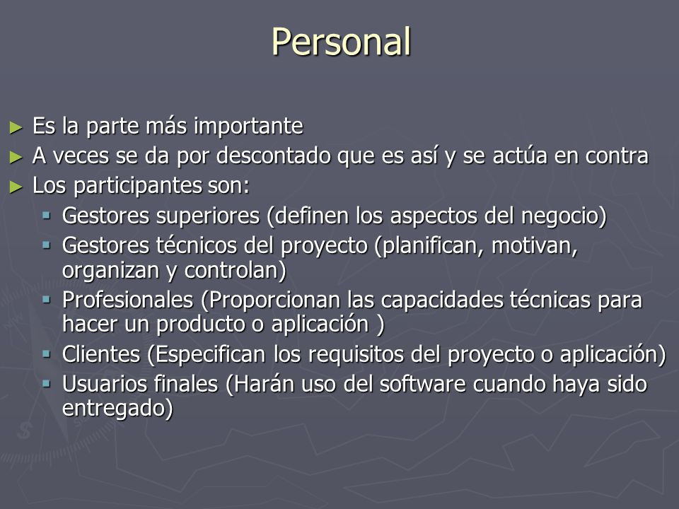 Producto Ámbito del software Ámbito del software Contexto.