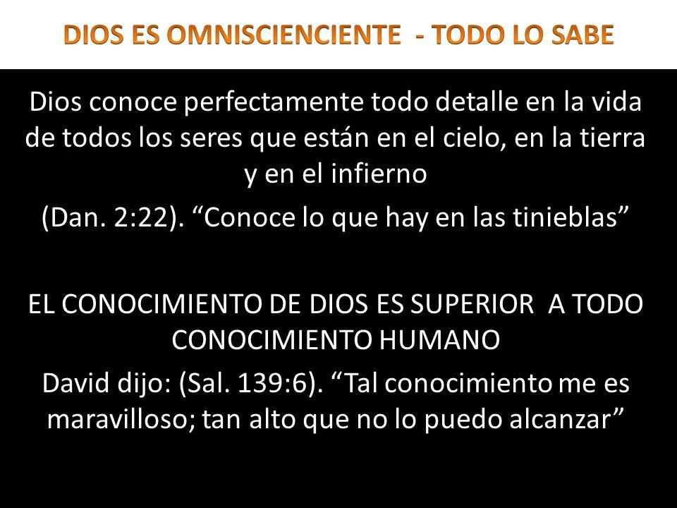 DIOS CONOCE TODO PENSAMIENTO DEL HOMBRE (Eze.11:5).