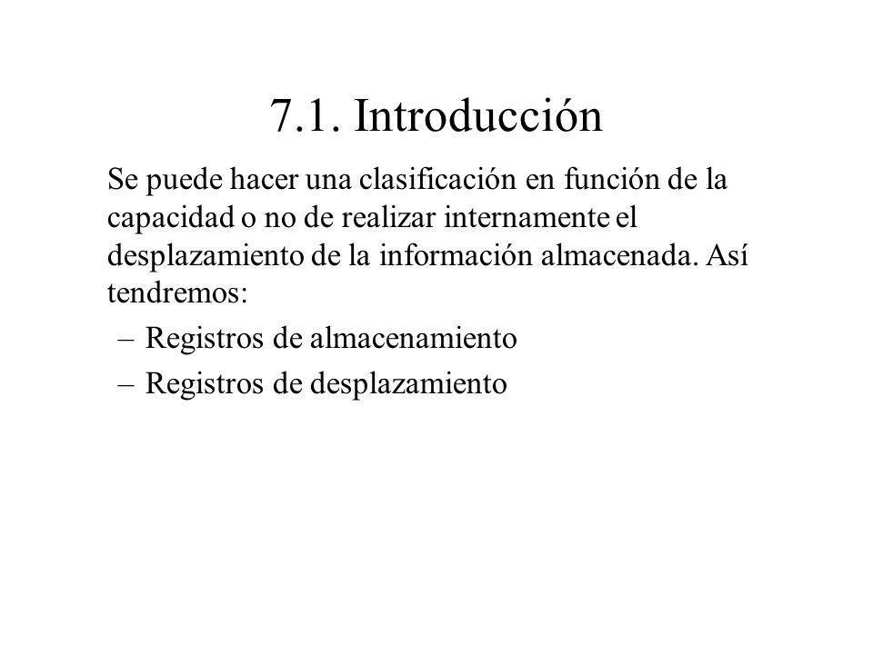 7.1. Introducción Se puede hacer una clasificación en función de la capacidad o no de realizar internamente el desplazamiento de la información almace