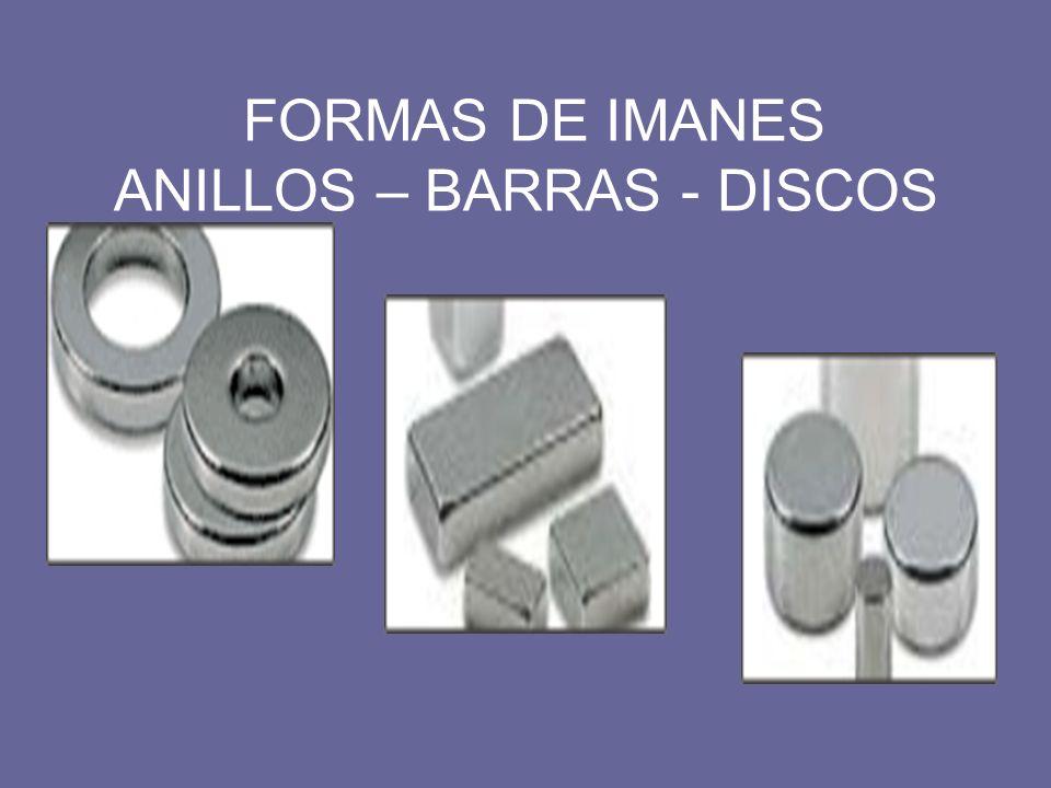 FORMAS DE IMANES ANILLOS – BARRAS - DISCOS