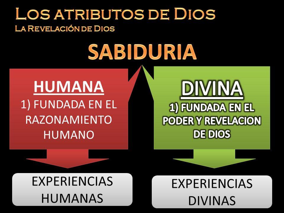 HUMANA 1) FUNDADA EN EL RAZONAMIENTO HUMANO HUMANA 1) FUNDADA EN EL RAZONAMIENTO HUMANO EXPERIENCIAS HUMANAS EXPERIENCIAS DIVINAS