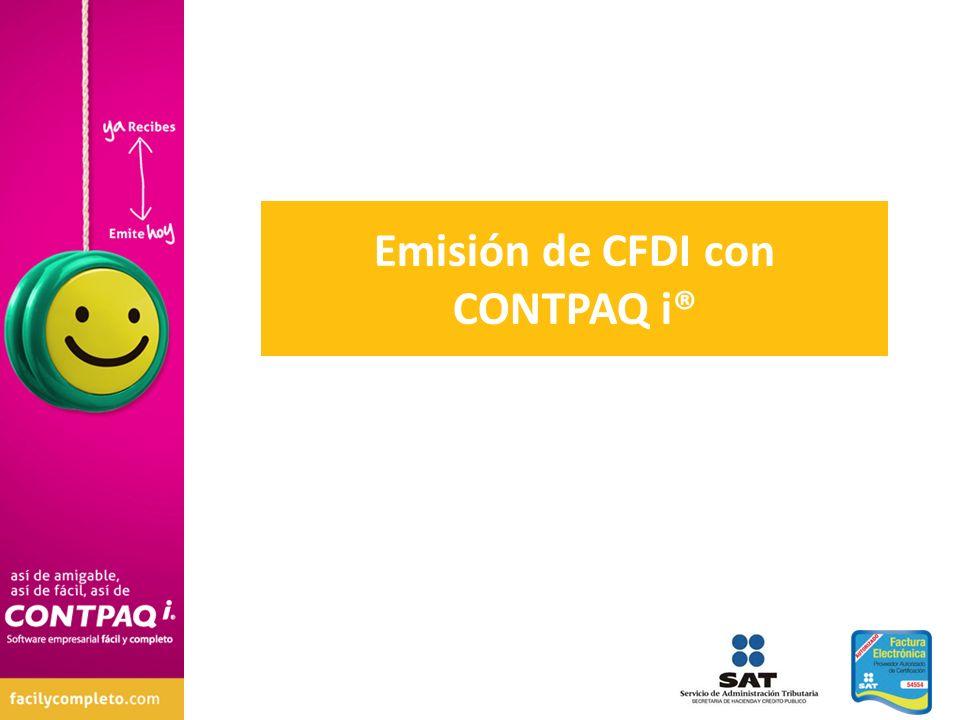 Emisión de CFDI con CONTPAQ i®
