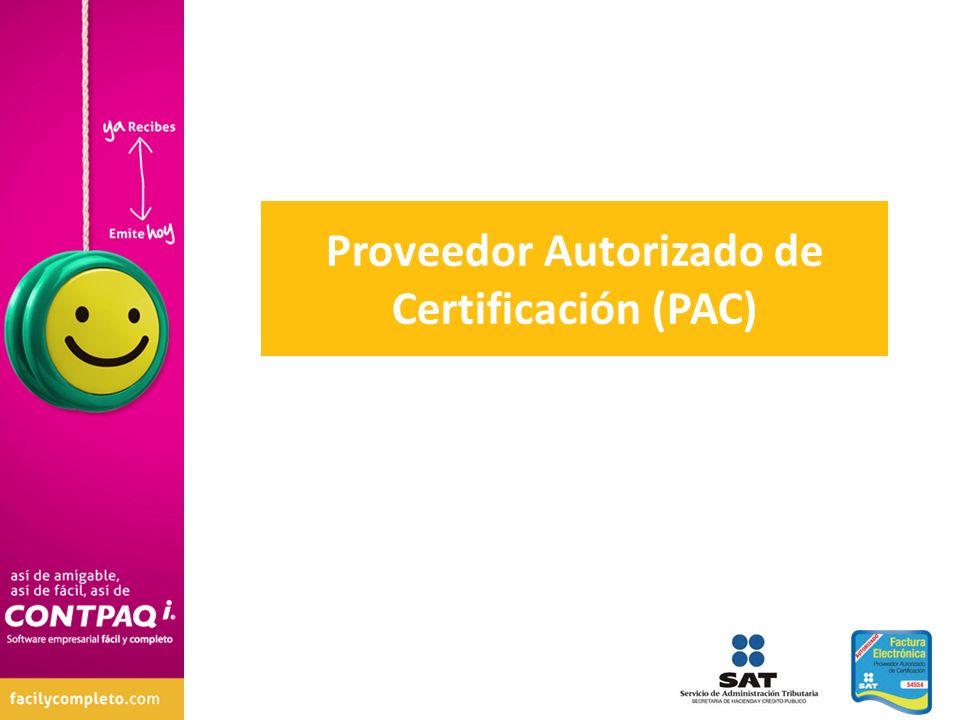 Proveedor Autorizado de Certificación (PAC)