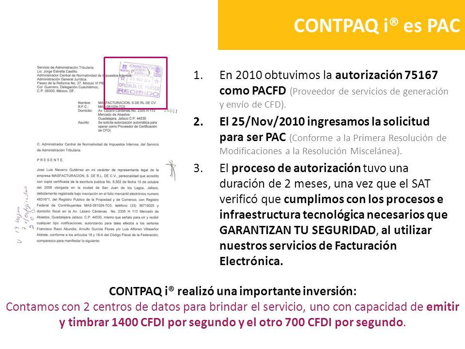1.En 2010 obtuvimos la autorización 75167 como PACFD (Proveedor de servicios de generación y envío de CFD). 2.El 25/Nov/2010 ingresamos la solicitud p